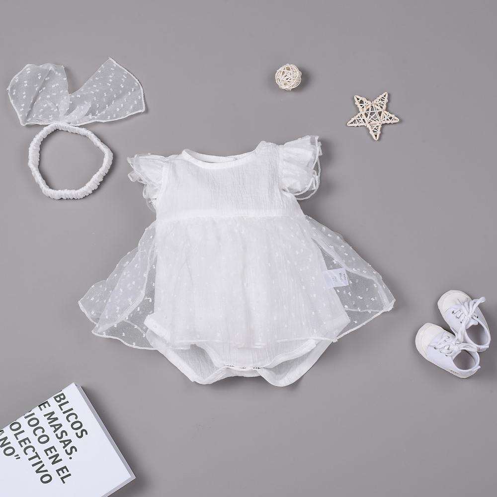 """White princess lace sweet cute princess dress for 22"""" reborn baby doll girl"""