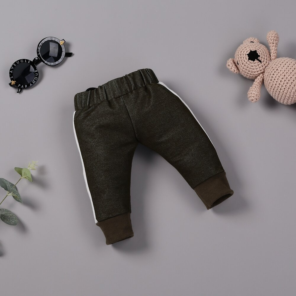 "Warm black pants for 22"" reborn baby doll boy"