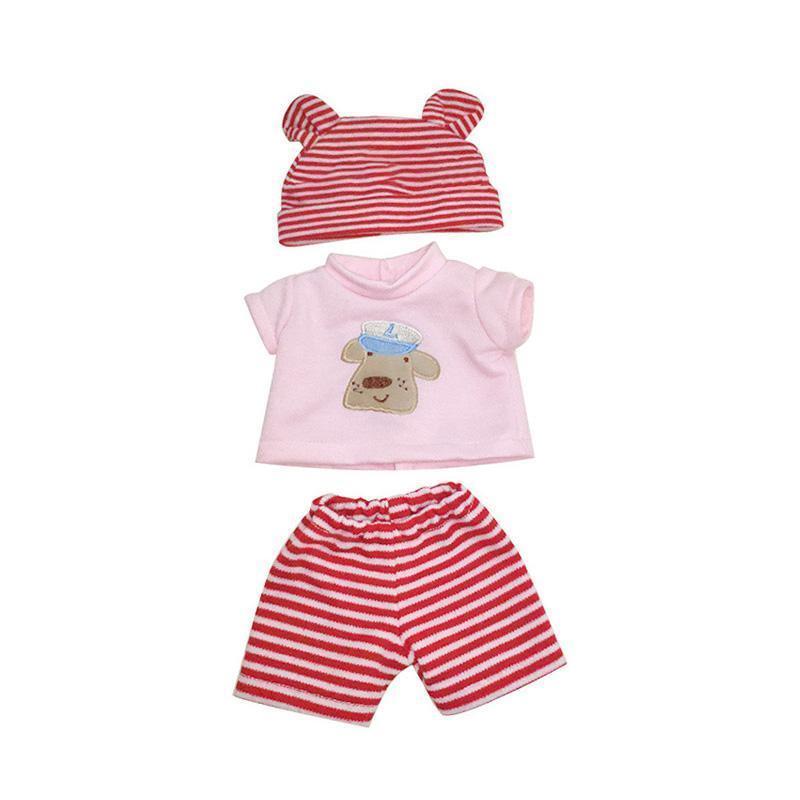 "[Suitable for 12"" Mini doll]3 Pcs Striped Clothes Suit for 12"" Mini Reborn Baby"