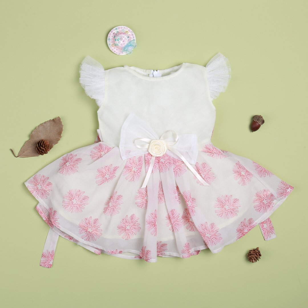 """flower pink lace dress for 22"""" reborn baby doll girl"""