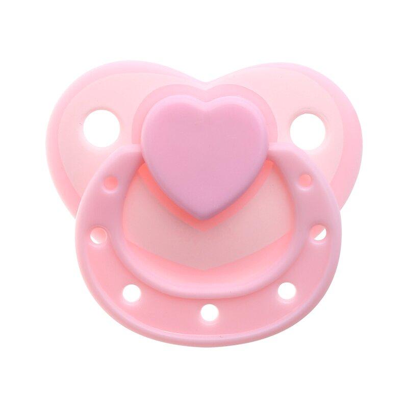 Pure color Love shape magnetic pacifier