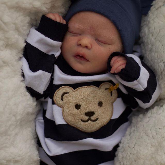 "[Heartbeat💖 & Sound🔊] 17.5"" Piedra Truly Reborn Baby Boy Doll"
