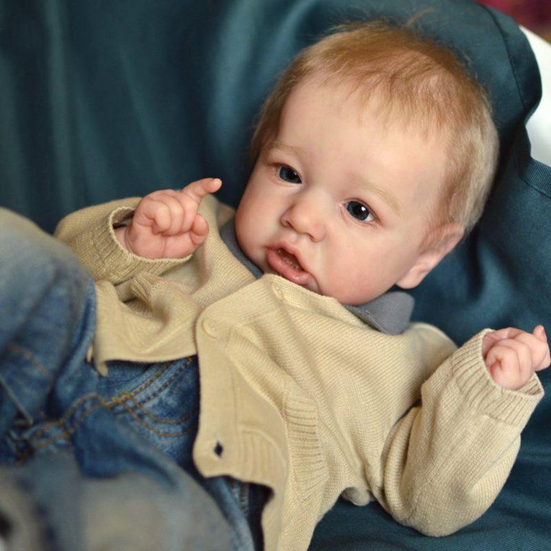 "22"" Handmade Reborns Delilah Reborn Baby Doll Boy Toy"