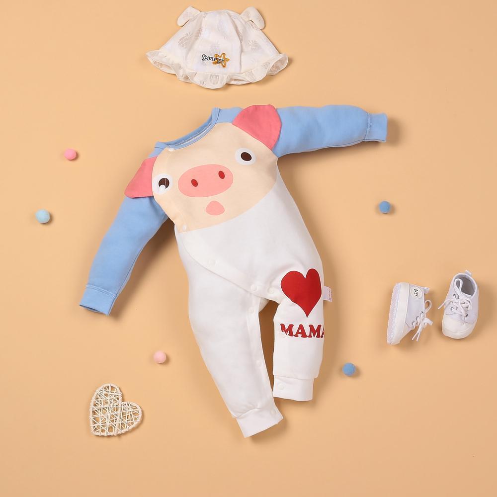 """White Piggy Love Fly Bodysuit for 22"""" reborn baby doll boy/girl"""