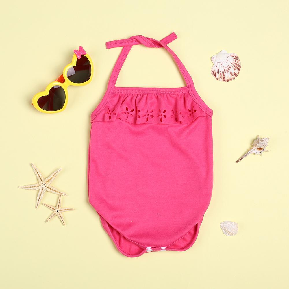 """Summer pink cute lace bodysuit for 22"""" reborn baby doll girl"""