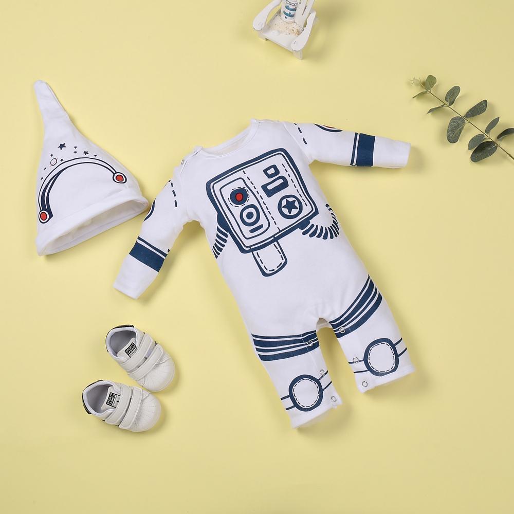 """White astronaut comfort jumpsuit for 22"""" reborn baby doll girl"""