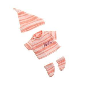 """[Suitable for 12"""" Mini doll]3 Pcs Pink Reborn Doll Clothes Suit for 12"""" Reborn Baby"""