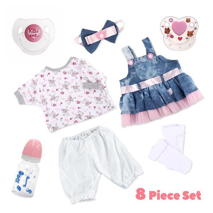 Adoption Reborn Baby Essentials-8pcs Gift Set B