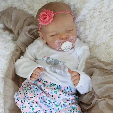 """[Realistic Handmade Gifts]17"""" Real Lifelike Journey Reborn Baby Doll Girl with Coos and """"Heartbeat"""""""