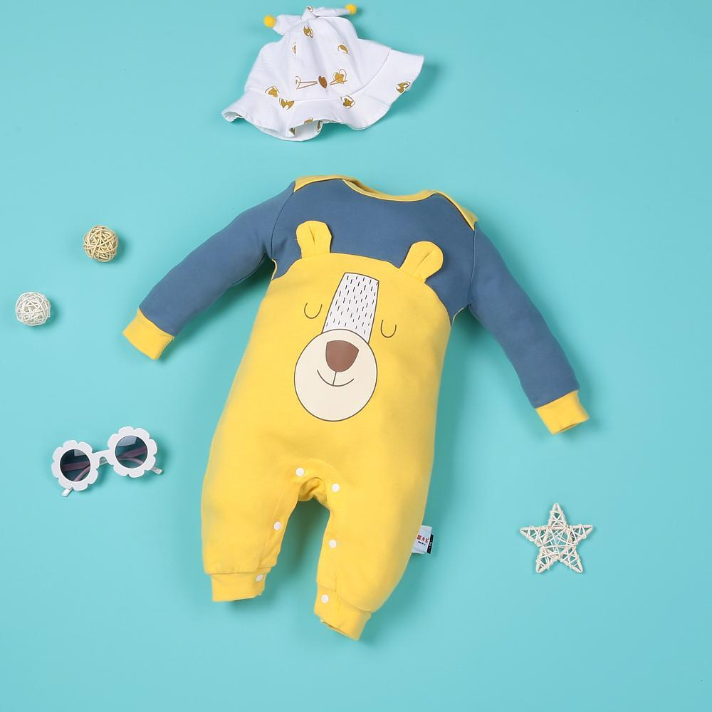 """Real cartoon lion yellow jumpsuit for 22"""" reborn baby doll boy"""