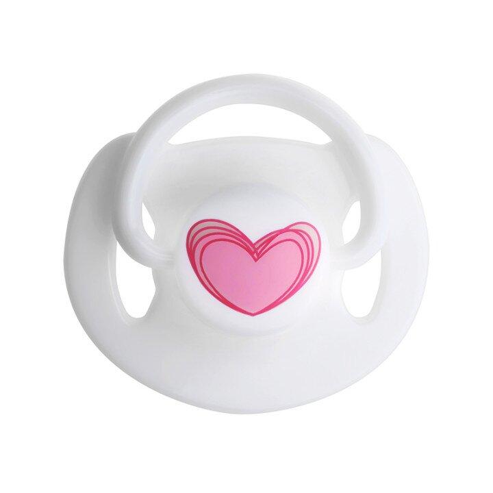 Center love shape magnetic pacifier