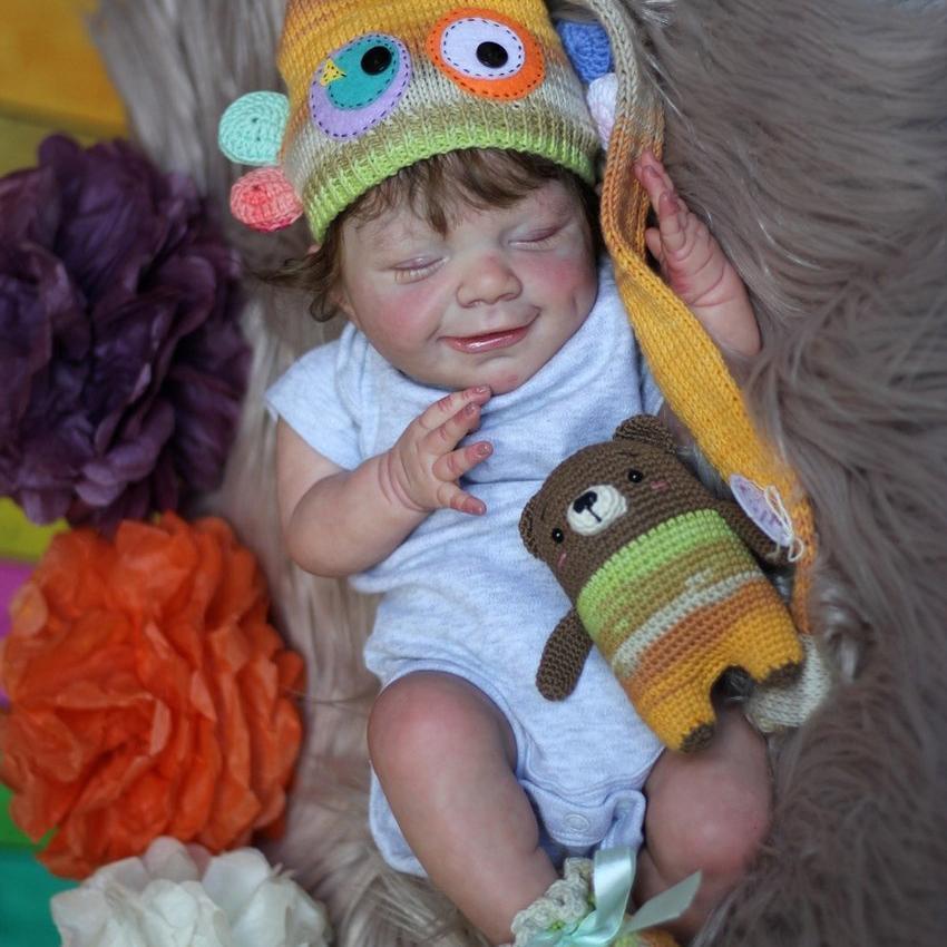 "Realistic 20"" Kids Play Gift Lovely Ryker Reborn Baby Doll Boy – So Truly Lifelike Baby"