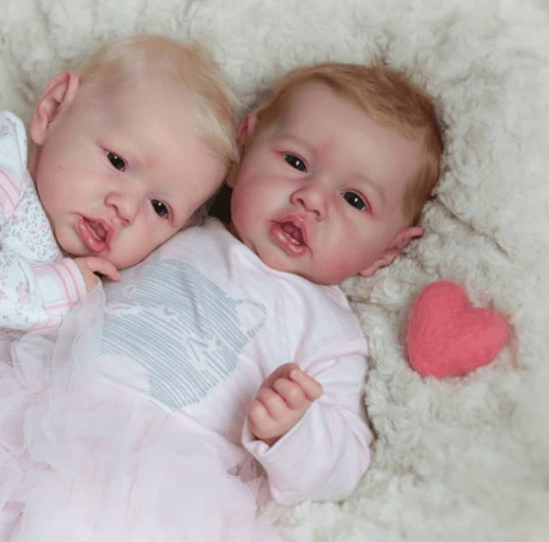 Truly Reborn doll Twins Sister 22″ Kevina & Kaliyah , Best Gift for Children 3+