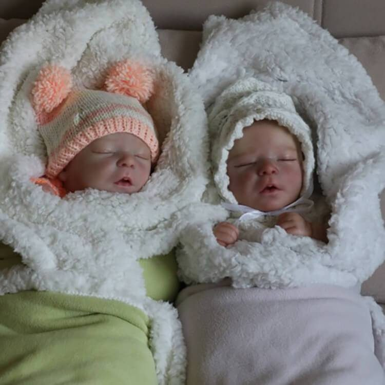 """17.5"""" Realistic Twin Brothers Truly Reyna and Kyra Reborn Baby Doll Boy"""