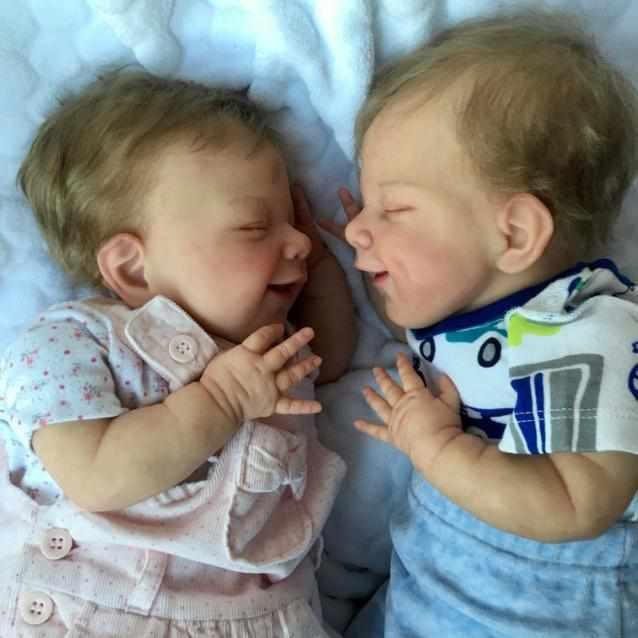 "20"" Twin Sister Jaylah and Jazmine Reborn Baby Doll Girl"