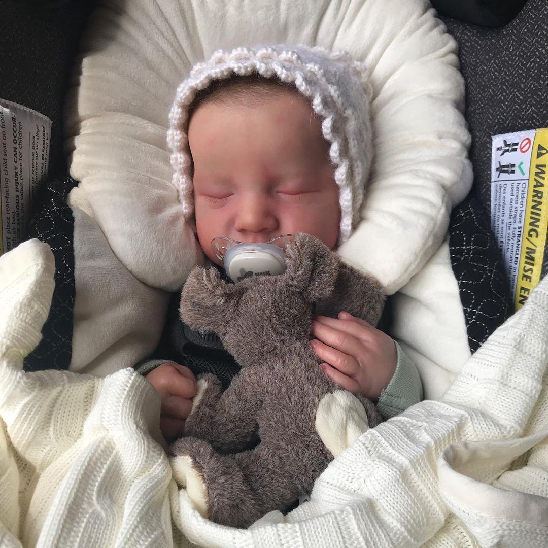 "20 "" Newborn Sleeping Nidya Reborn Baby Boy Dolls"