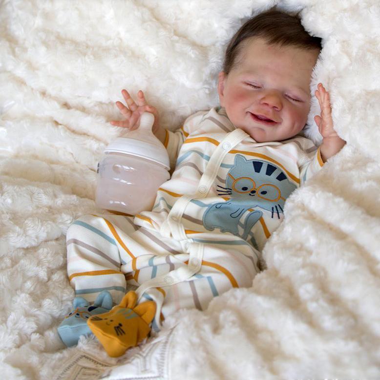 "20"" Realistic Reborn April Baby Doll Boy Named David, Handmade Gift for Kids"