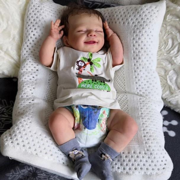 """Realistic 20"""" Kids Reborn Lover Lovely Owen Reborn Baby Doll Boy – So Truly Lifelike Baby with Coos and """"Heartbeat"""""""