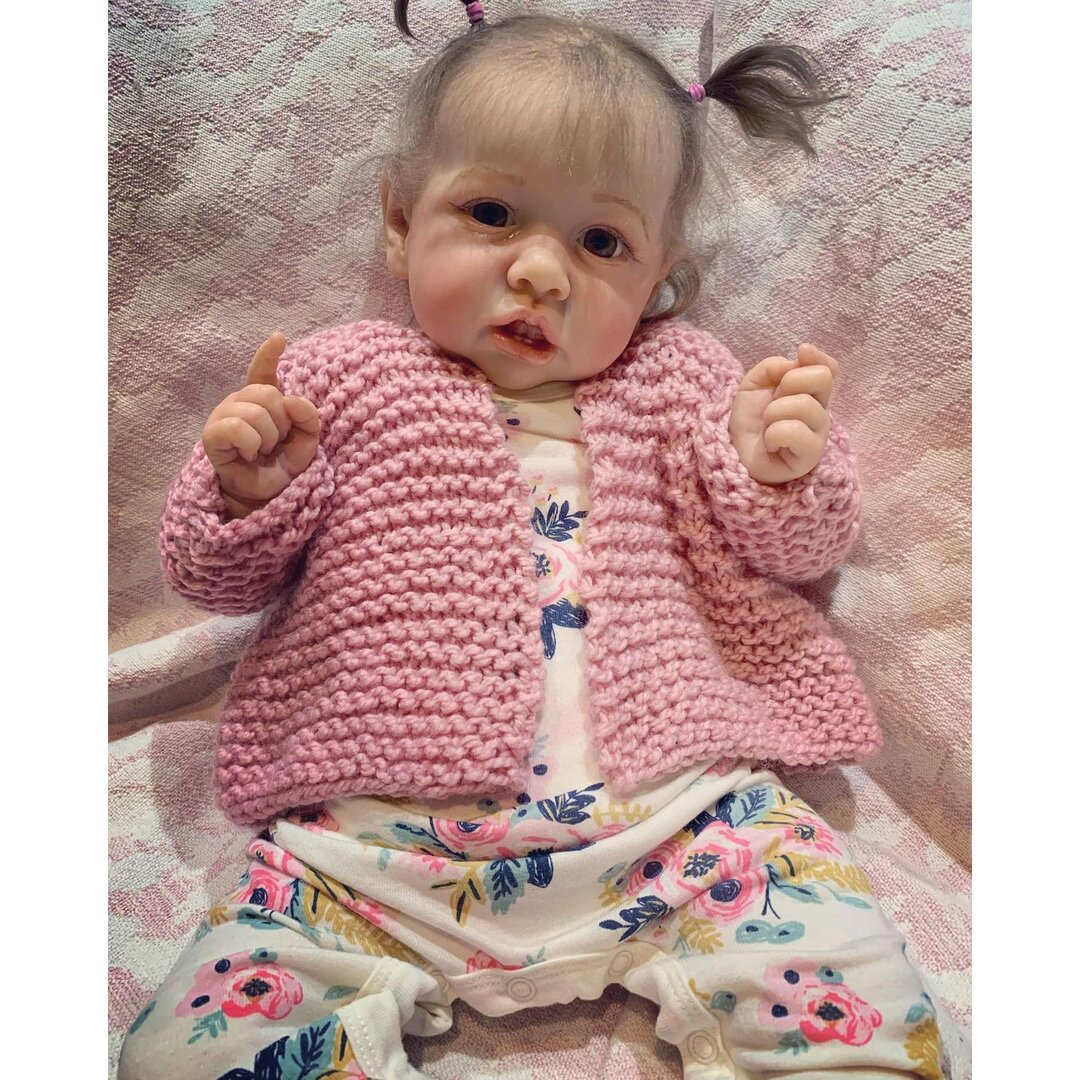 """22"""" Cute Dani Touch Real Reborn Baby Doll Girl"""