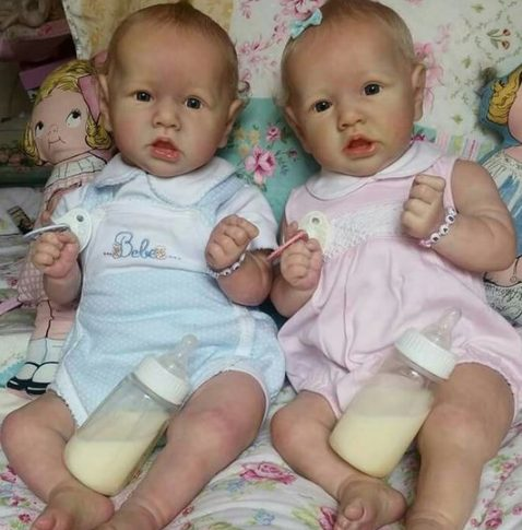 22″ Twins Salome and Sandy Reborn Baby Doll Girl, Gift