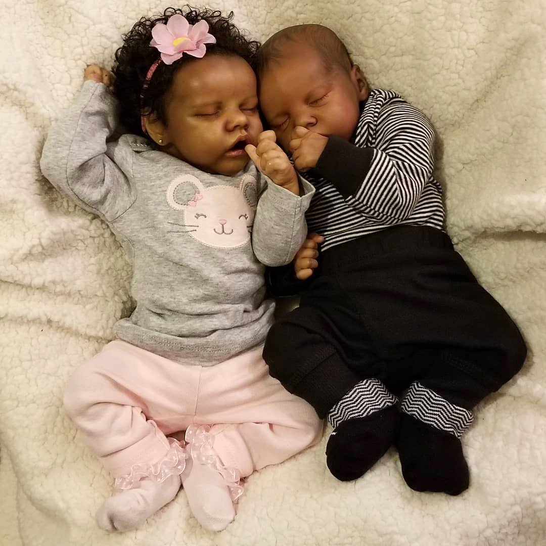 17″ Sweet Sleeping Twins Sister Batard and Briana Truly Baby Doll Girl