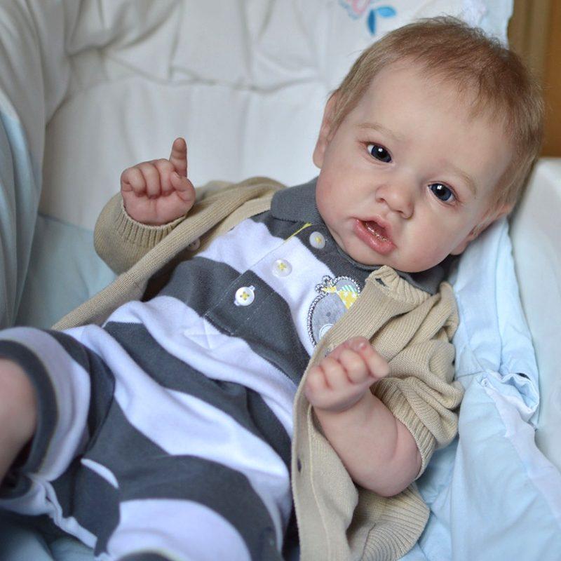 "22"" Handmade Reborns Kaylee Reborn Baby Doll Boy Toy"