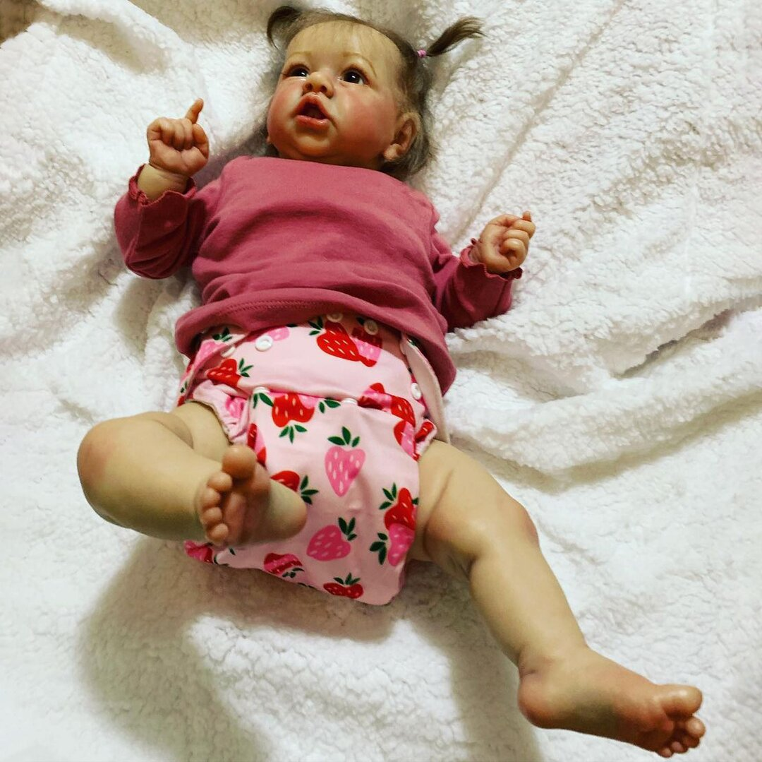 """22"""" Cute Elodie Touch Real Reborn Baby Doll Girl"""