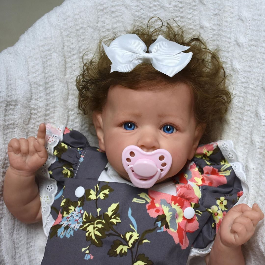 "22"" Real Lifelike Oglesby Reborn Baby Doll Girl"