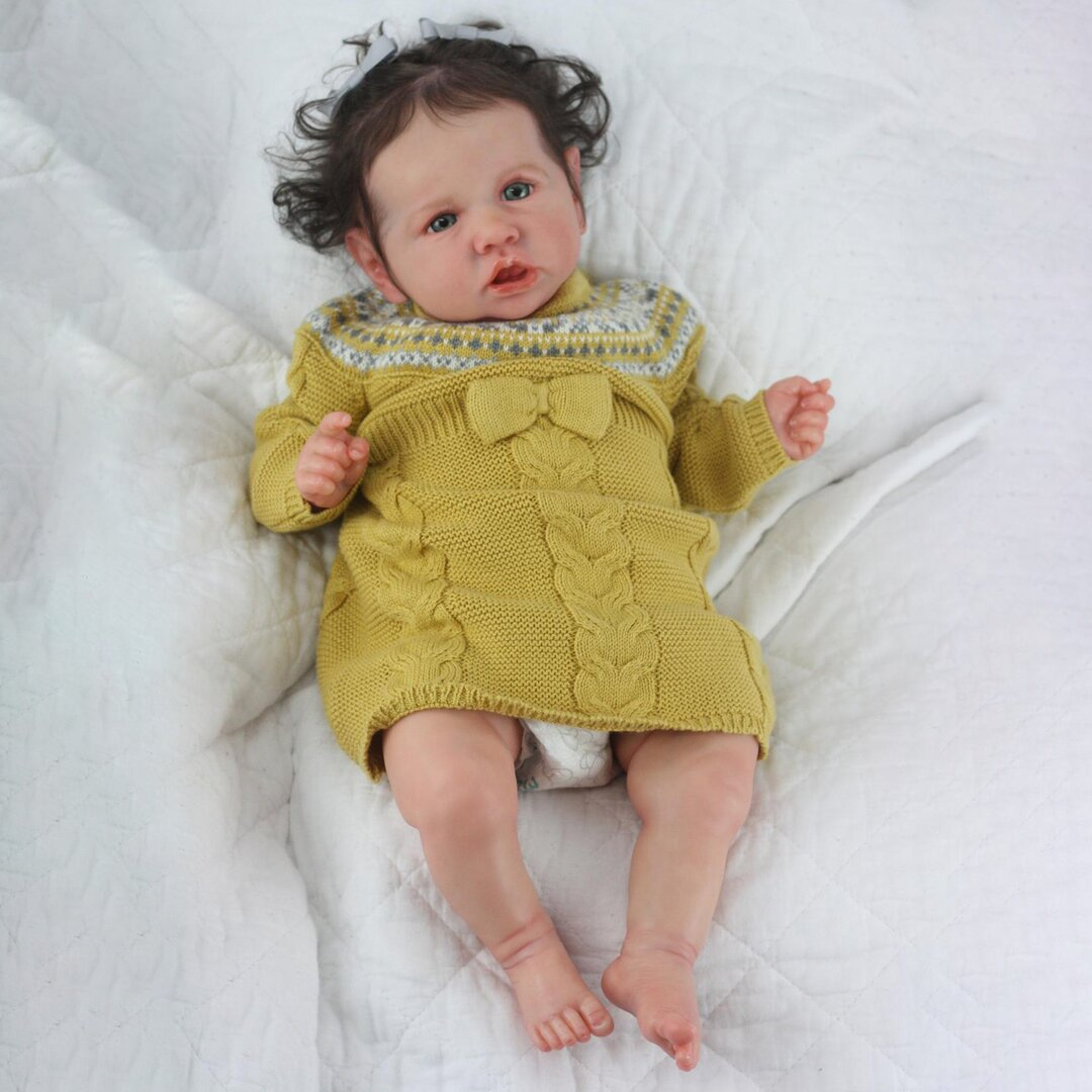 """22"""" Lovely Zainab Touch Real Reborn Baby Doll Girl"""