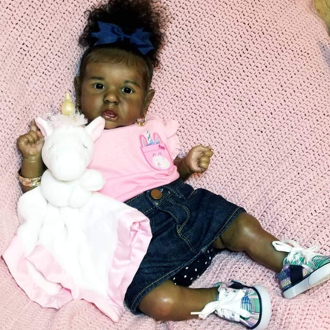 """22"""" Real Life Reborn Baby Doll Girl Santo That Look Real"""