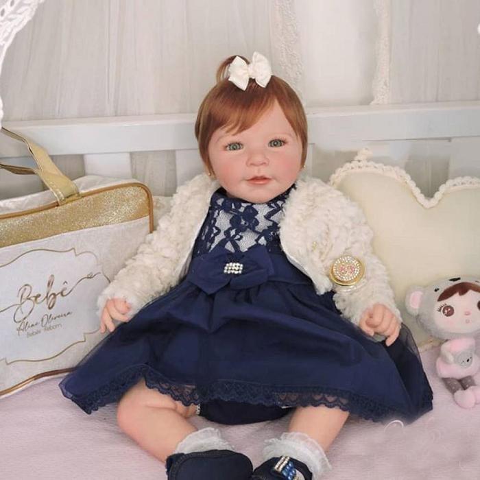 Vinyl Taylory 20″ Girl Reborn baby Doll Handmade Baby