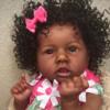 "22"" Wright Lifelike Soft Black Reborn Baby Doll Girl"
