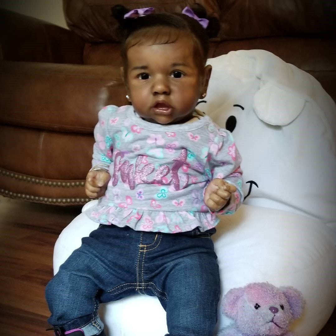 "22"" Sweet Roxana Reborn Baby Doll Girl Realistic s Gift Lover"
