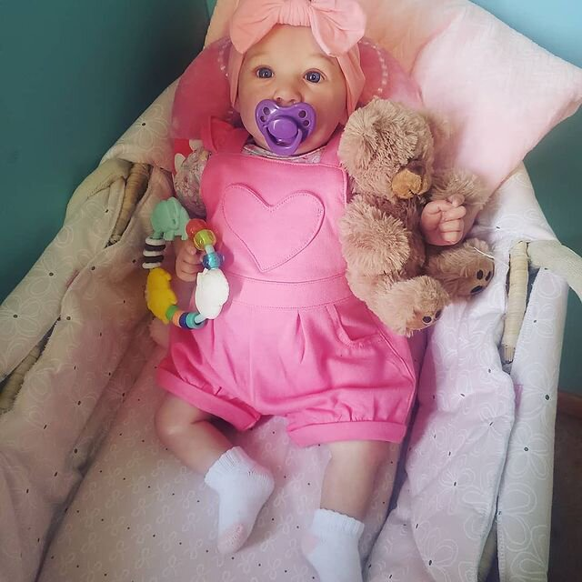 """22"""" Cute Milana Touch Real Reborn Baby Doll Girl"""